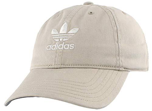 adidas Originals Women's Relaxed Fit Adjustable Strapback Cap, Khaki/White, One Size
