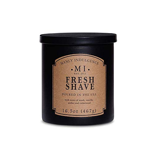 Manly Indulgence Fresh Shave Scented Candle 16.5 Ounce Jar by Manly Indulgence