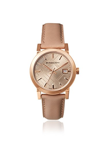 Burberry Women's BU9109 Beige Leather Strap Watch
