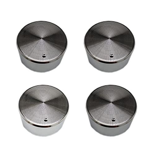 PUGONGYING Popular 4pcs / Lot Metal Zinc Interruptor de Cromo Rotary Fit para la Estufa de Gas Coloque la Pieza de la Pieza del Repuesto del Eje de la manija del Metal 6.1mm Durable