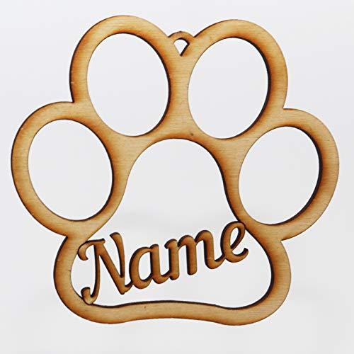 Jovalus Pfote aus Holz oder Acrylglas individuell personalisierbar, Namensschild als Dekoration oder als Erinnerung. Mit Namen von Katze, Hund oder Hundeführer, auch als Fährtenschild nutzbar