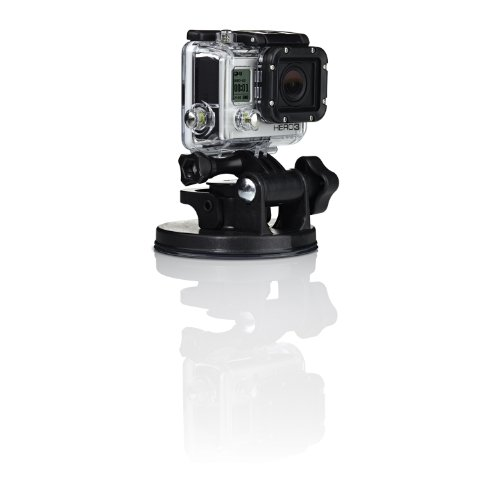 GoPro AUCMT-301 Suction Cup Updated Version, Fissaggio Ventosa Industriale, Nera