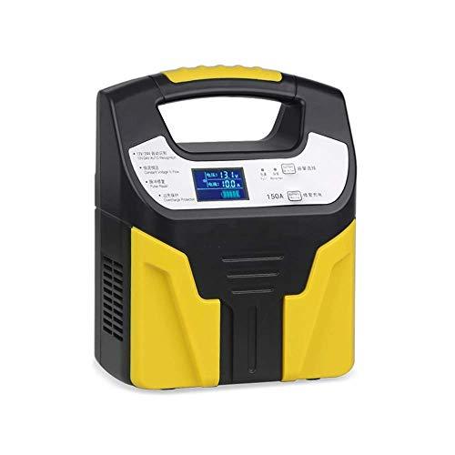 Wdszb Cargador de batería para automóvil, 12V/24V 8Amp Cargador/mantenedor de batería automático Inteligente, con Pantalla LCD, Adecuado para más Tipos de baterías