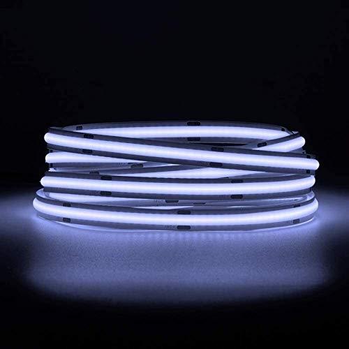 Tira de luces LED flexible de alta densidad de 1 m, 5 m, 360/420, 480 LEDS, M 2400 LEDS, color blanco natural 24 V, 12 V, regulable FOB COB LED para dormitorio, cocina, decoración interior TOM-EU