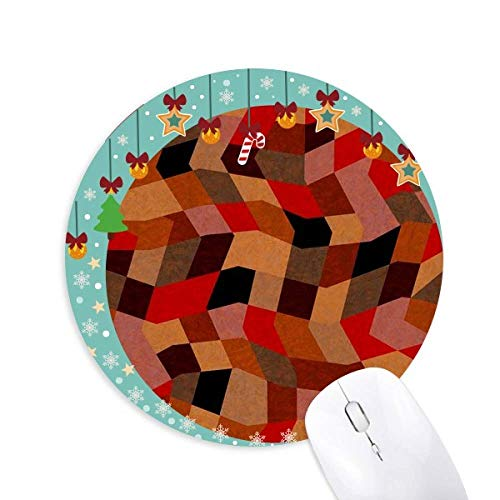 Diamond Polygon Fliesen Farbige Muster Mouse Pad Jingling Bell Round Rubber Mat