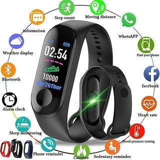 BUYROYAL M3 Band Bluetooth 4.0 Sweatproof Smart and Sleek Fitness Wristband with Heart Rate Monitor Tracker