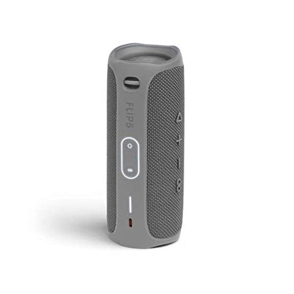 jbl flip 5 waterproof portable wireless bluetooth speaker bundle with hardshell protective case – grey