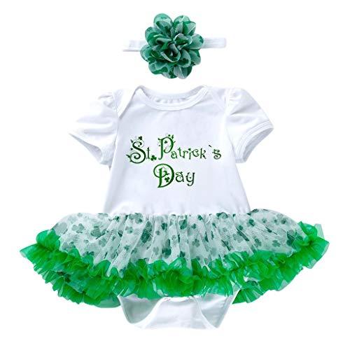 Patricks Day Vestidos Diadema Zapatos Calentador De Piernas 4 Pcs Mini Falda Vestido Fiesta Regalo De Los Ni/ños Vectry Vestidos Ni/ñas Reci/én Nacido Baby Girls St