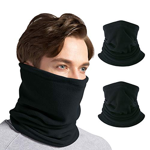 CUIMEI Face Cover/Scarf/Mask (3Pack / 2 Pack / 1 Pack) - Windproof Fleece Neck Warmer Gaiter for Men & Women for Outdoor Ski Running Cycling Motorcycle