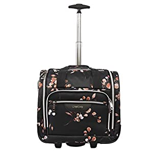 BEBE Women's Valentina-Wheeled Under The Seat Carry-on Bag, Floral Branch, One Size