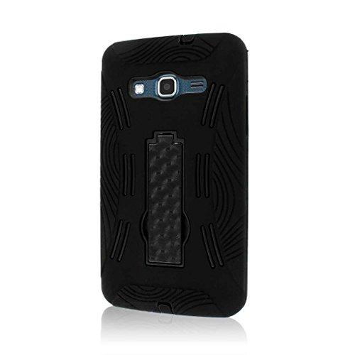 MPERO Impact XL Series Kickstand Hülle Tasche Hülle for Samsung ATIV S Neo I800 I8675 - Schwarz