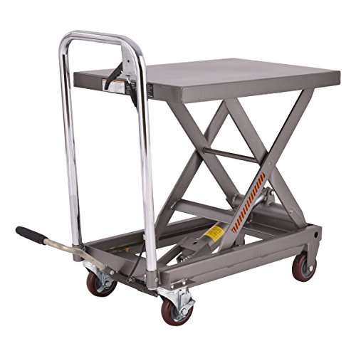 Goplus Hydraulic Scissor Lift Table Cart Dolly Scissor Jack Hoist Stand 500LB Capacity W/Foot Pump