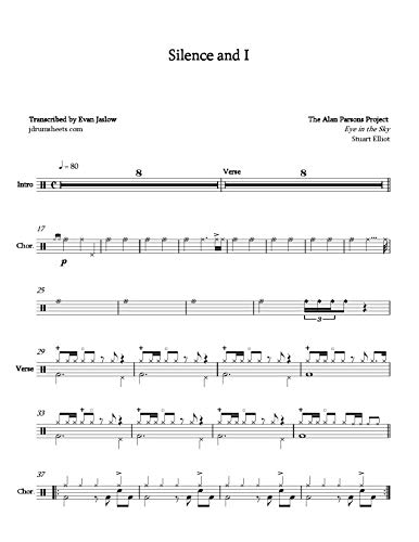 Alan Parsons Project - Silence and I: Drum Sheet Music (English Edition)