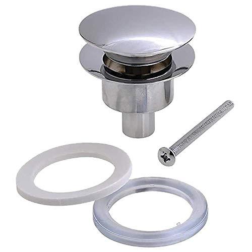 Kibath L172143 Válvula Clic Clac universal fabricada completamente en latón, Compatible con sifones de lavabo y rejillas convencionales, Cromo Brillo