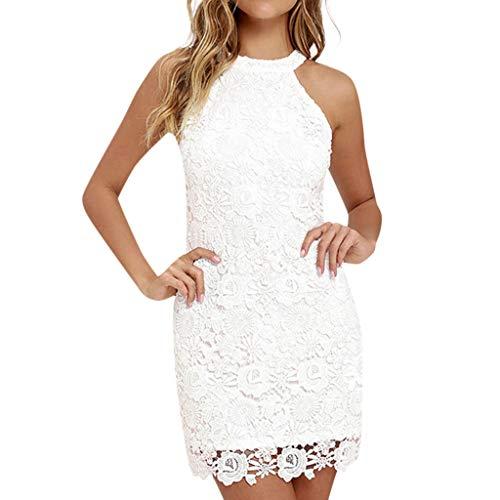 Vectry Vestidos Playa Niña Vestidos Mujer Vestidos De Boda Cortos Elegante Vestido Cuello Halter Vestidos Mujer Verano 2019 Vestidos Espalda Descubierta Vestidos Blanco