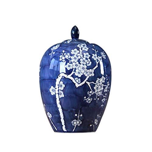 GAOYINMEI vaas salontafel keramiek blauw en wit porselein glas vaas moderne tv-kast decoratie ornamenten decoraties