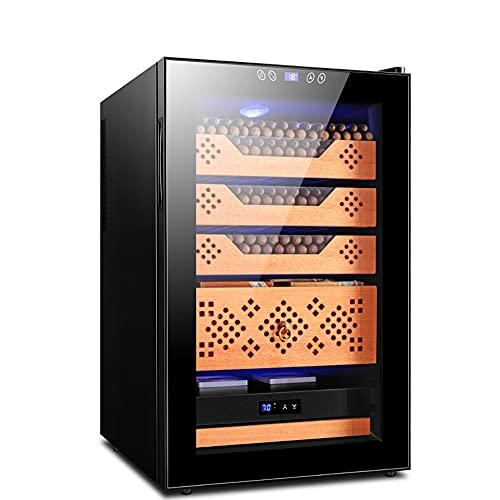 GAO-bo HUMIDORES Gabinete electrónico de cigarros, Temperatura Constante y Humedad Cedro de Madera Silencio y Humedad refrigerador Ajustable CK-68C Gabinete de Vino refrigerado Hogar (Color : F)