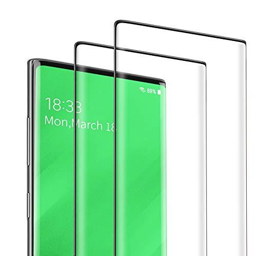 DEKOLY Vetro Temperato per Samsung Galaxy Note 10 Plus [2 Pezzi], 3D Copertura Completa Pellicola Protettiva in Protezione Schermo con Kit di Installation - Nero