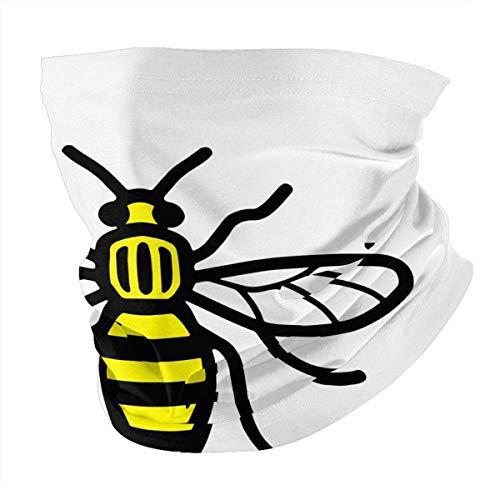 Manchester Bee Neck Gaiter for Men Women Summer Bandana Face Mask for Sun Dust