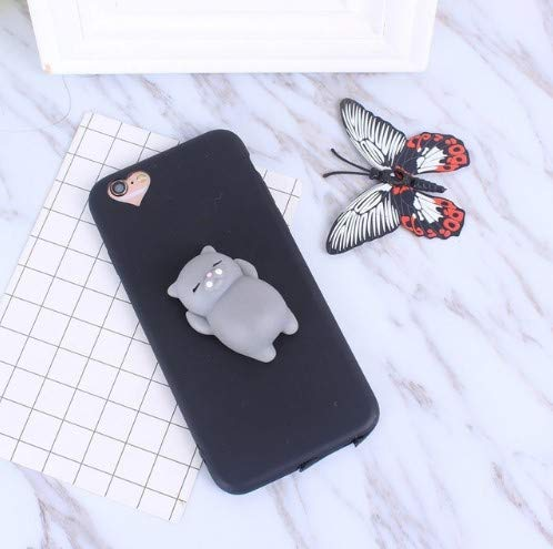 3D Squishy Cute Cat Heart Phone Case for iPhone 7 8- Best Gift for Boys and Girls (iPhone 5 5s SE)