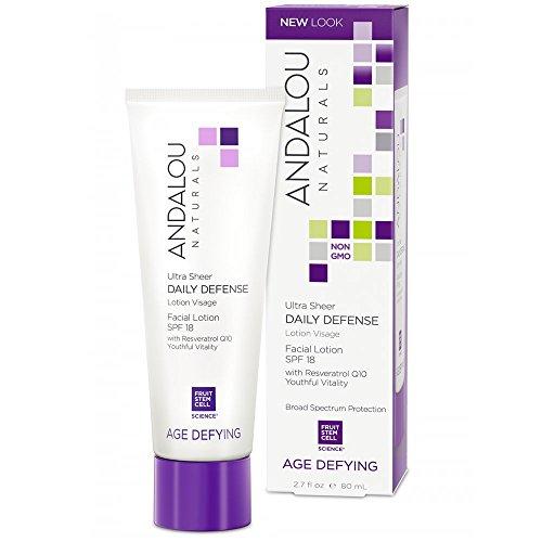 Andalou Naturals Spf 18 Ultra Sheer Daily Defense Facial Lotion, 2.7 Ounce