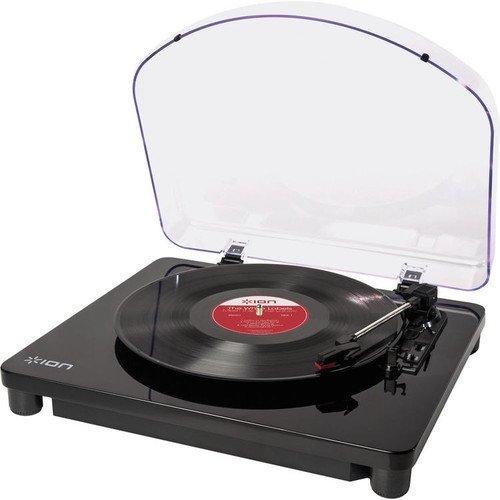 ION Audio Classic LP Giradischi Semiautomatico con Trazione a Cinghia e Testina con Puntina Preassemblata + USB e Software per Mac e PC