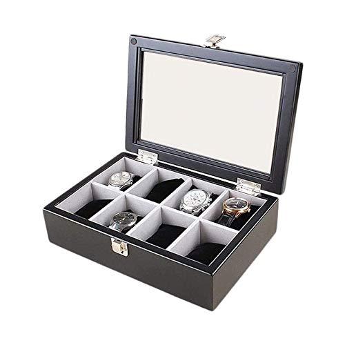SSHA Joyero Caja de Almacenamiento de Joyas Caja de colección Caja de Almacenamiento Pulsera de Madera Brazalete Organizador de Joyas (Color : Black)