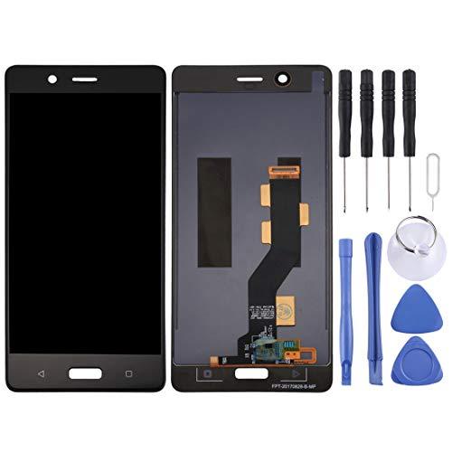 Sostituzione dello Schermo, Schermo LCD e Digitizer Assemblea Completa for Nokia 8 / N8 TA-1012 TA-1004 TA-1052 (Nero) (Colore : Black)