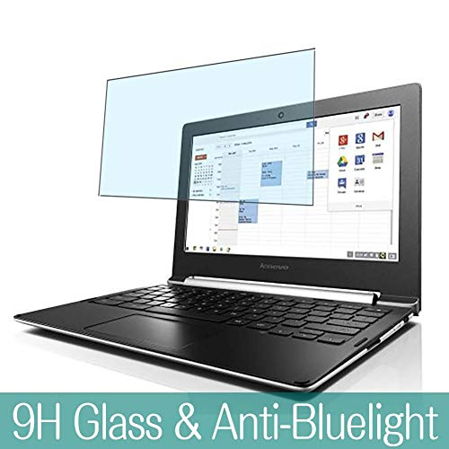 Synvy Anti Blue Light Tempered Glass Screen Protector for Lenovo CHROMEBOOK N20 / N20P 11.6' Visible Area 9H Protective Screen Film Protectors