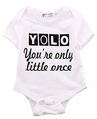 Ma&Baby Infant Baby Boy Girls Bodysuit Cotton Romper White Clothes Outfits