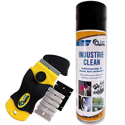 DIP Tools Hochwertiger Reiniger - Effektive Gel-Formel optimal als Klebereste- und Schmutzentferner - Aceton-Frei (1x500ml+Schaber)