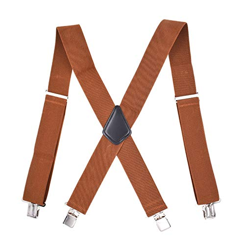 QYQQFZ Men Suspenders with Heavy-Duty Clip X-Back Trouser Suspenders