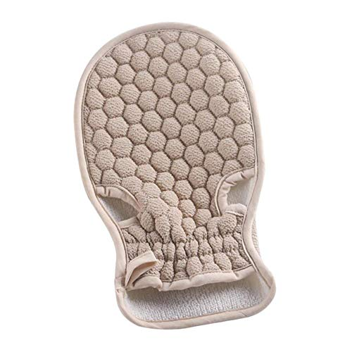 TINGS Glove Free Cuozao Towel Scrubber Exfoliating Back Tool Bath Honeycomb Scrub Gloves Body Massage Wash Tool, Grey
