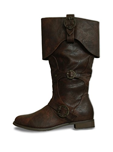 CP-Shoes Pirate Medieval Boots Captain Sperling Brown (44)