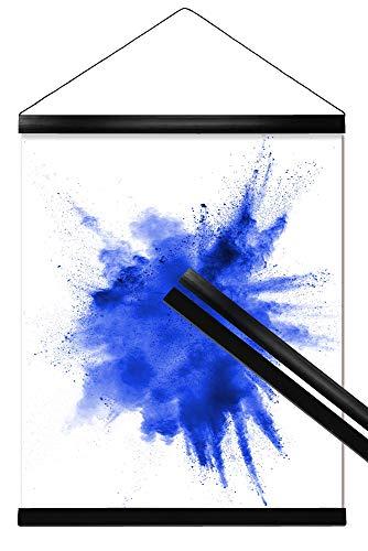 Close Up Klemmschiene, Posterleisten - 2 Poster-Aufhänger/Posterschienen/Plakatleisten - Kunststoff, Schwarz - 62 cm