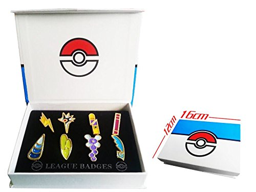 Pokemon Gym Badges set of 8PCS (Yellow)