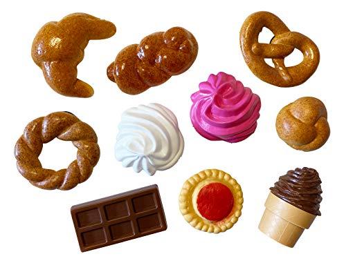 ERRO 10 simpatici magneti a forma di particelle – Magnetici Food Models, pasticceria artificiale come magnete decorativo, magnete per frigorifero, magnete da ufficio in plastica