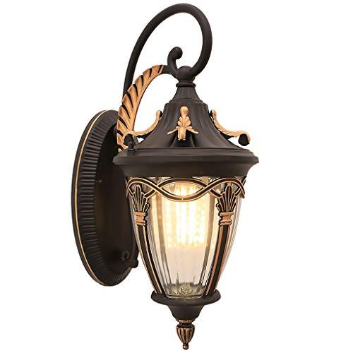 Buitenwandlamp, waterbestendig, roestvrij, ZS, waterbestendig, roestvrij, wandlamp, netvoeding, vintage, balkon, hal, veiligheidsverlichting voor terras, paviljoen, tuin, muur