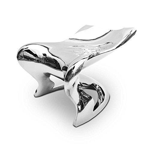 Edelstahl-Sessel aus Handarbeit