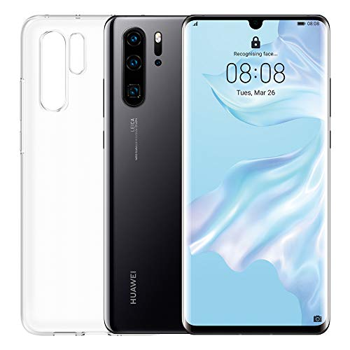 """Huawei P30 Pro (Black) plus transparent cover, 8GB RAM, 128 GB memory, 6.47 Display """"FHD +, Quadruple rear camera for advanced Bokeh effects, front camera 32 Mpx HDR +"""