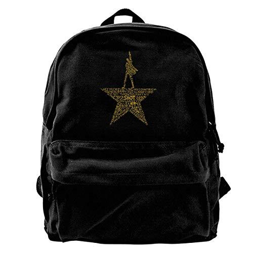 Canvas Backpack Hamilton The Musical Rucksack Gym Hiking Laptop Shoulder Bag Daypack For Men Women