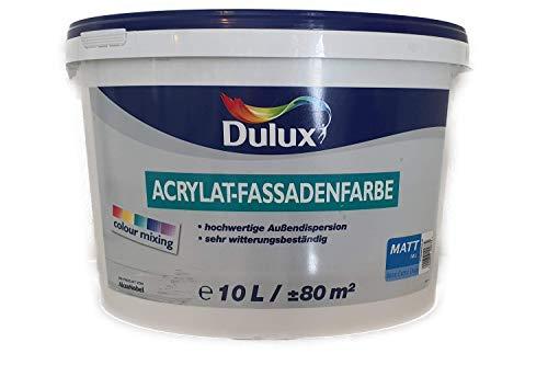 Dulux Acrylat-Fassadenfarbe Weiß Matt 10 L