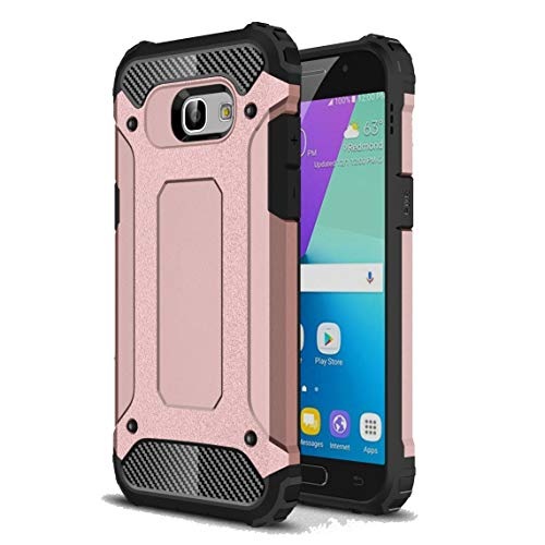 Vultic Armor Galaxy A5 2017 Case, Heavy Duty Durable Hard [Drop Protection] Bumper Cover for Samsung Galaxy A5 2017 (Rose Gold)