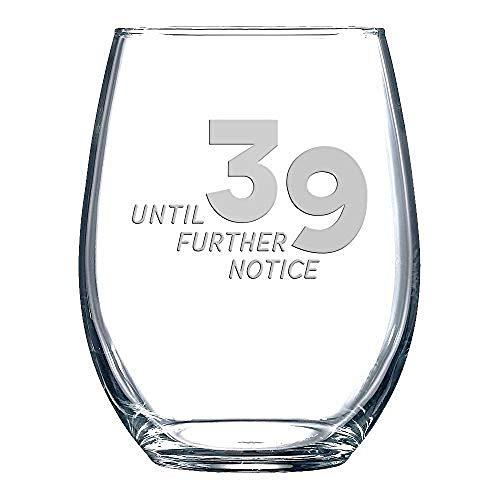 Geboren voor Anime (15-Ounce - Permanent Graveren Gedessineerd Wijnglas Goede Touch Speciaal Halloween Present,39 Tot Verdere Kennisgeving Stemless Wijnglas