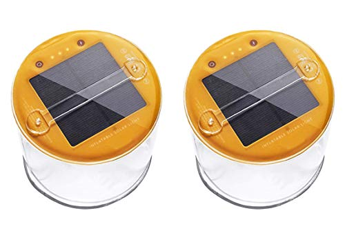 Lucid 2 Pack Inflatable Solar Light Reliable Camping and Emergency Inflatable Solar Lantern