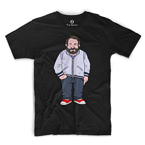 Bud Spencer Herren Jumbo (Zwei ausser Rand und Band) Comic T-Shirt, Schwarz, 4XL
