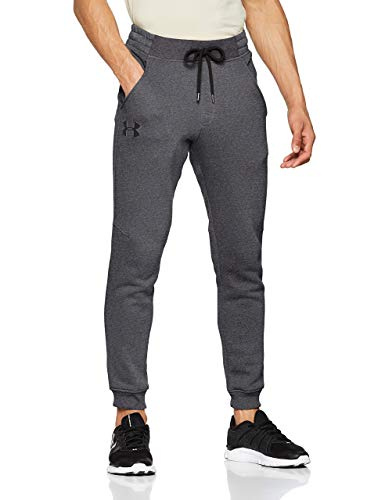 Under Armour Rival Fitted Tapered Jogger, Pantaloni Uomo, Grigio (Carbon Heather/Black 090), M