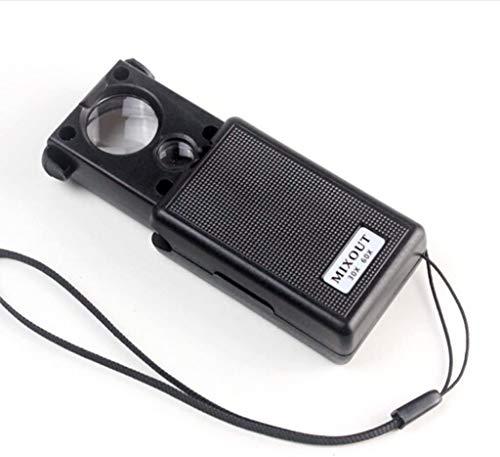 Wxxdlooa Pull Draagbaar Vergrootglas 2,5 keer/45 keer Handheld Lezen Vergrootglas high Power Spiegel met LED-lampen