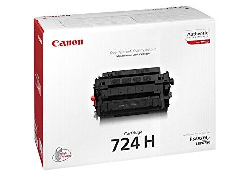 Canon cartucho 724H de tóner original negro para impresoras láser i-SENSYS LBP6750dn,...