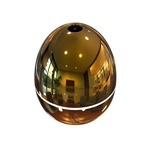 VORCOOL 50 ML Aceite Esencial Difusor Aroma Humidificador Mini purificador de Aire Huevo en Forma Espejo Cristal Fresco Pétalo atomizador USB para el Dormitorio del Coche Sala de Estar (Oro)